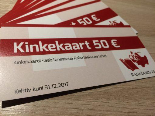 RahaTasku €50 kinkekaart